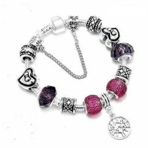 BRACELET - GOURMETTE 21 cm Bracelet Charm Arbre de Vie Style Pandora Ar