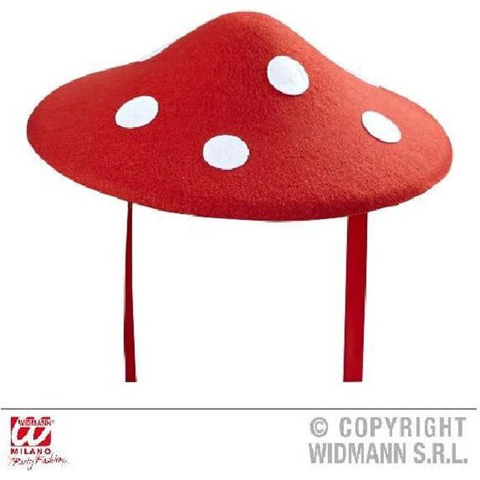 4 Chapeaux champignon 40 cm Multicolore