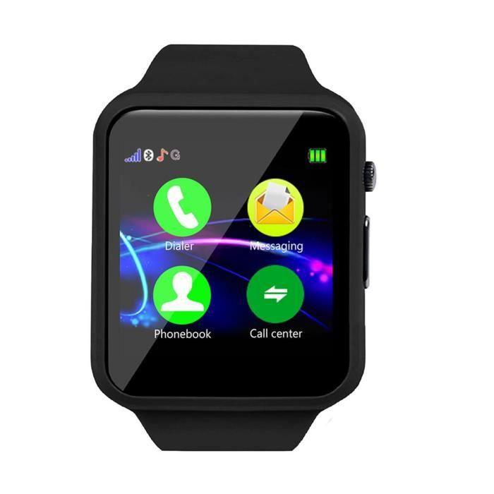 Xuyan Montre de suivi d'activité de montre-bracelet pour enfants Smart-Watch Anti-Lost pour enfants (Noir)