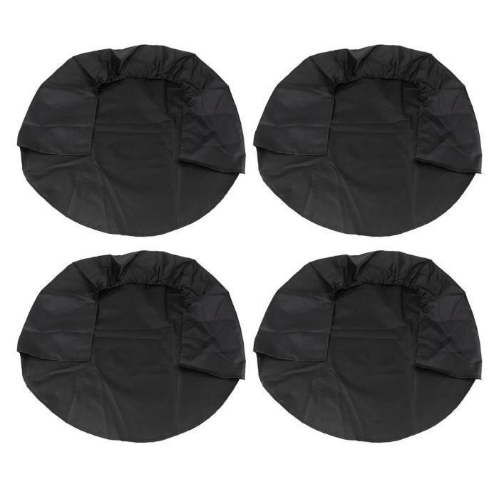 4pcs Couvre-pneu roue couvre couverture de protection pour RV camion voiture remorque campeur 32 pouces noir -OHL