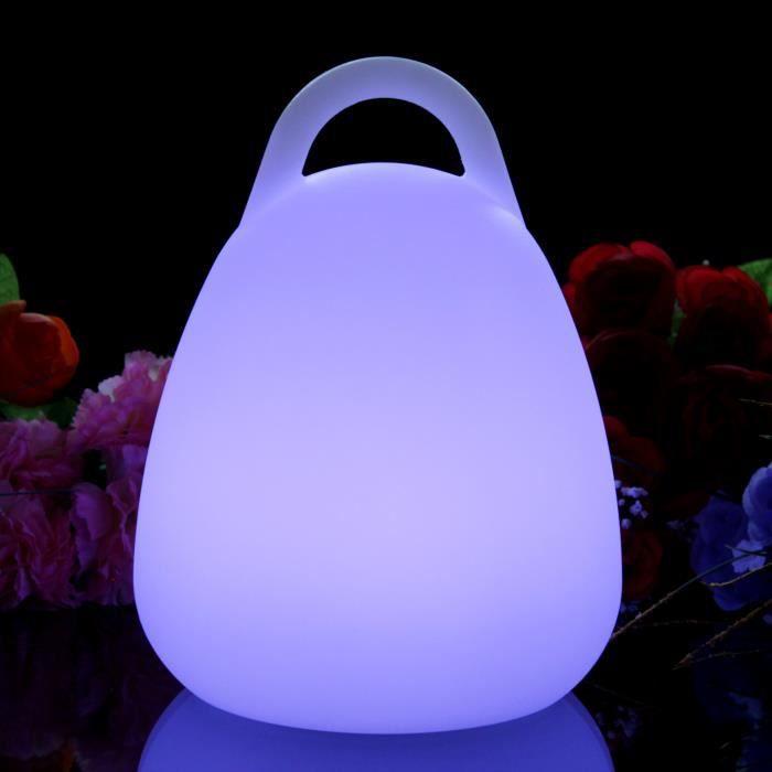 23cm Lanterne LED Rechargeable, Lampe Table Moderne Design, Lumière RGB Multicolore Ambiance pour Salon, Déco de PK Green
