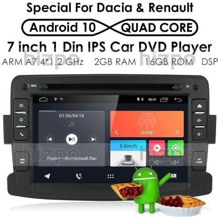 Android 10 Quad Core System 17,8 cm Lecteur DVD de Voiture pour Renault Dokker Dacia Duster Logan Sandero avec autoradio Navigation