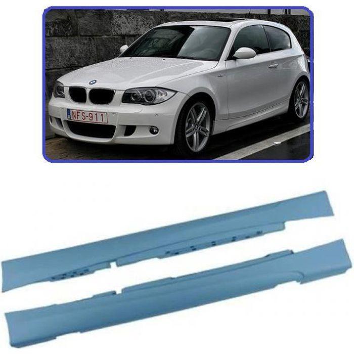 2 BAS DE CAISSE EN ABS PACK M POUR BMW SERIE 1 E81 3 PORTES + E82 COUPE + E88 CABRIOLET