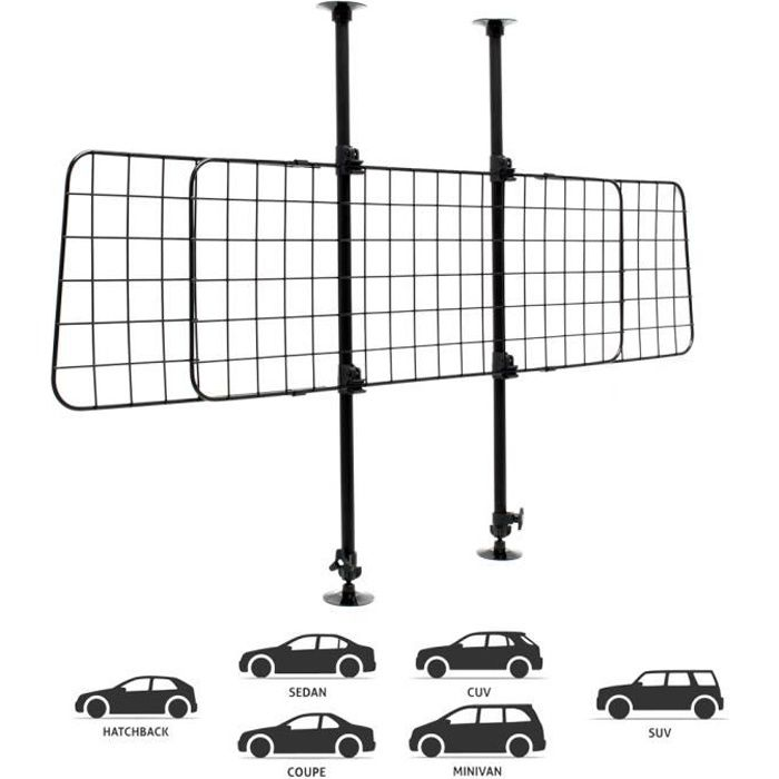 Protecteur de chien pour voiture Modèle B Protecteur de protection Protecteur de séparation - 61941