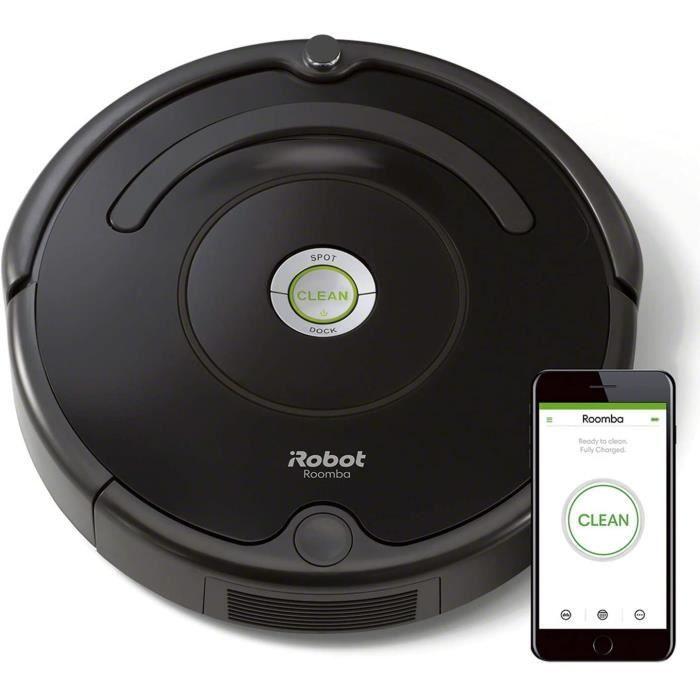 iRobot Roomba 671, Aspirateur Robot pour Tapis et Sols Durs, Capteurs de Poussière Dirt Detect, Système de Nettoyage en 3 Étapes, Co