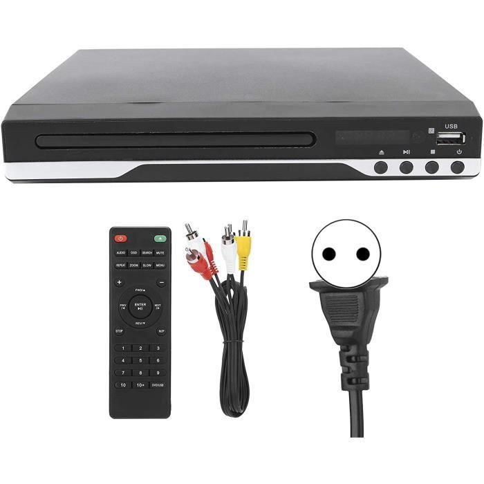 Lecteur DVD, Mini Lecteur de Disque DVD/VCD/CD Portable Lecteur de Disque vidéo, avec télécommande et câble AV, Compatible pour CPRM