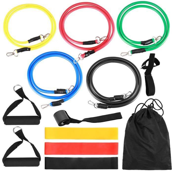 Accessoires Fitness - Musculation,TOMSHOO 17Pc bandes de résistance ensemble exercice bande élastique entraînement - Type 14pcs Set