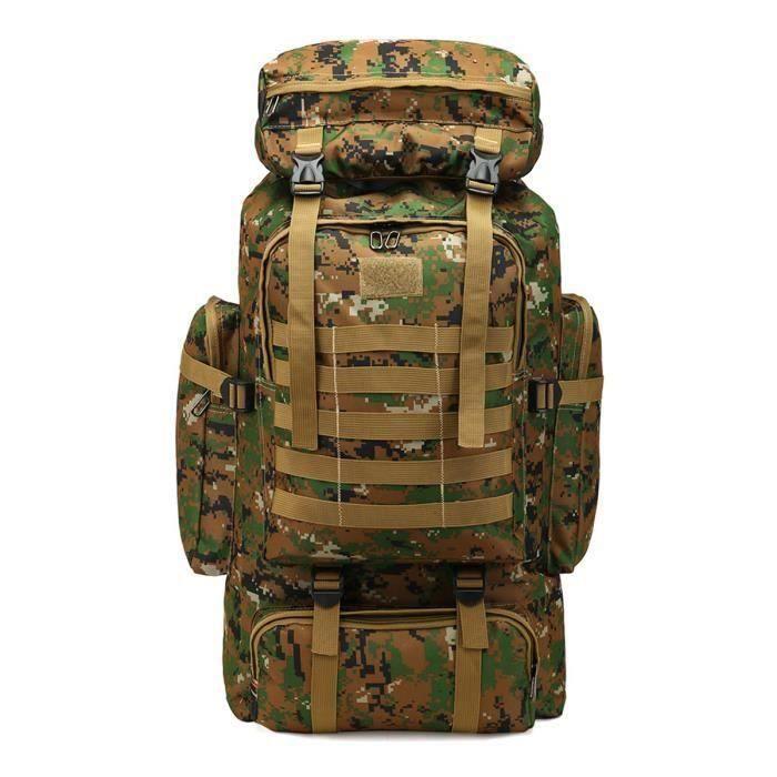 80L Grande Sac À Dos Tactique Militaire Randonnée Camping Backpack Nylon Voyage Camouflage Jungle Me47980