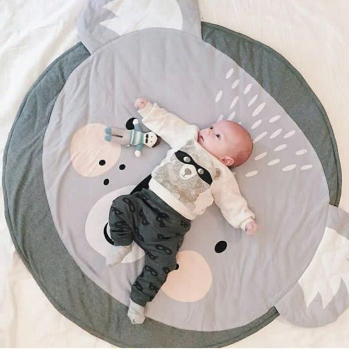 Tapis d'éveil,Tapis de jeu rond infantile ramper couverture bébé jeu Pad coton dessin animé tapis de jeu enfants - Type koala-90CM