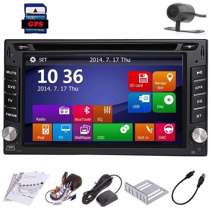 CD Automotive Parts Autoradio 2 Din Dash GPS SAT Multimédia Autoradio Headunit sur plate-forme de voiture Video Electronics Car