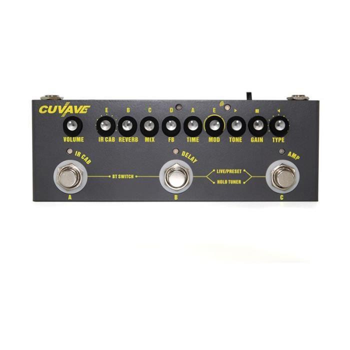 Guitare,Cuvave Rechargeable Multi effets pédale retard Chorus Phaser effet Reverb pédale guitare accessoires CUBE bébé guitare