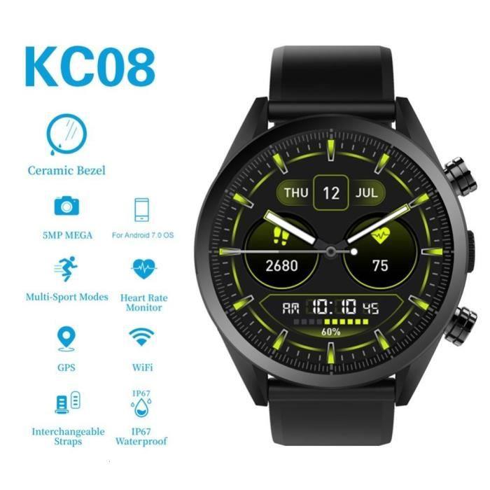 KingWear KC08 4G montre intelligente hommes Android 7.1 1GB 16GB 5MP HD caméra Smartwatch GPS étanche moniteur de sommeil de fréquen