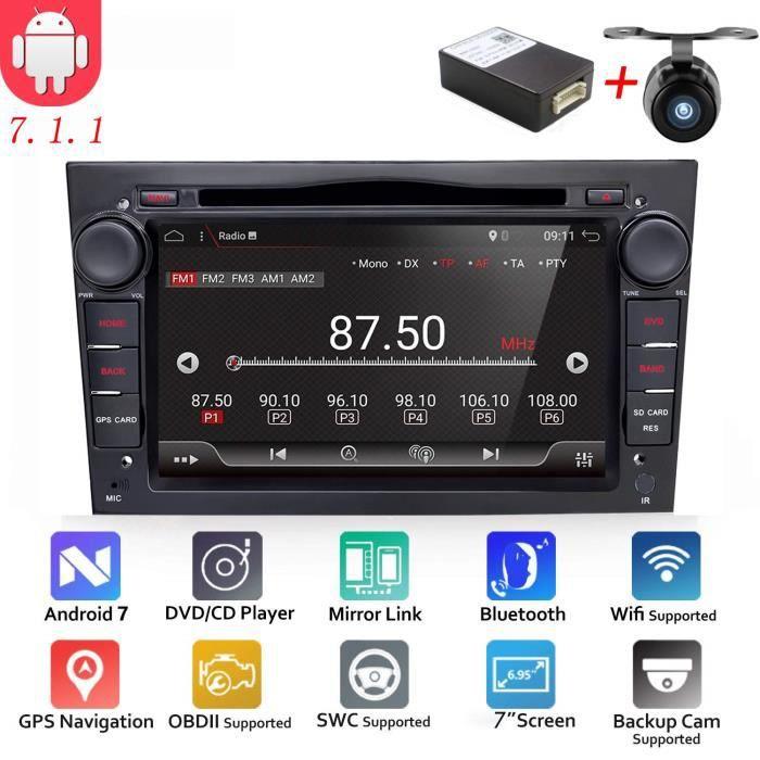 Android 6.0 Quad Core GPS DVD de voiture Play 17,8 cm GPS lecteur DVD de voiture pour Opel Astra Vectra Zafira Antara Corsa radio