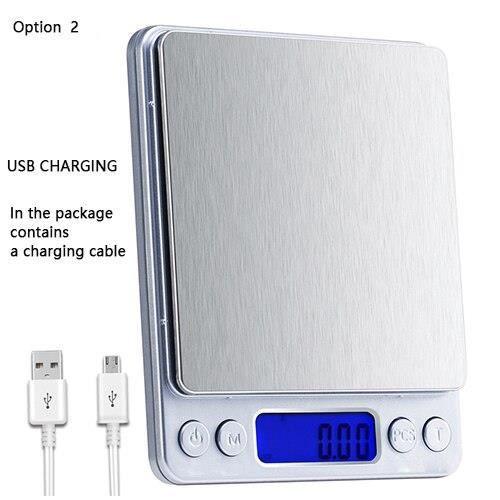 Balance de cuisine,Balance de cuisine numérique précision Balance électronique USB poids de poche or Balance 3000g - Type USB Scale