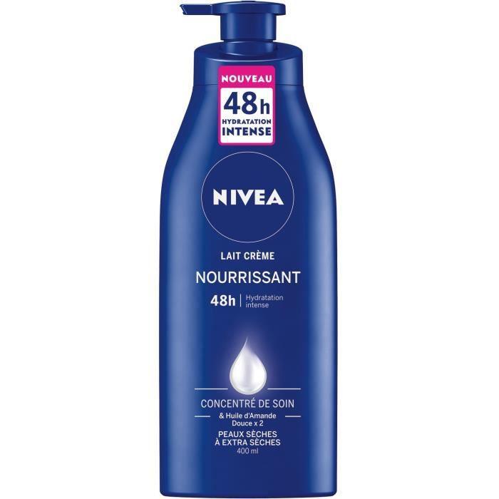 NIVEA Lait crème nourrissant - Pour les peaux sèches et très sèches - 400 ml