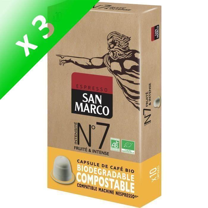[LOT DE 3] Caps San Marco N° 7 Bio et Compostables x 10