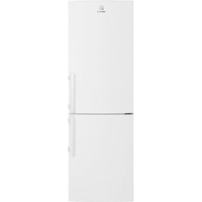 ELECTROLUX LNT3FE34W3 - Réfrigérateur congélateur bas - 330L (220+110) - Froid brassé - L60x H185cm - Blanc