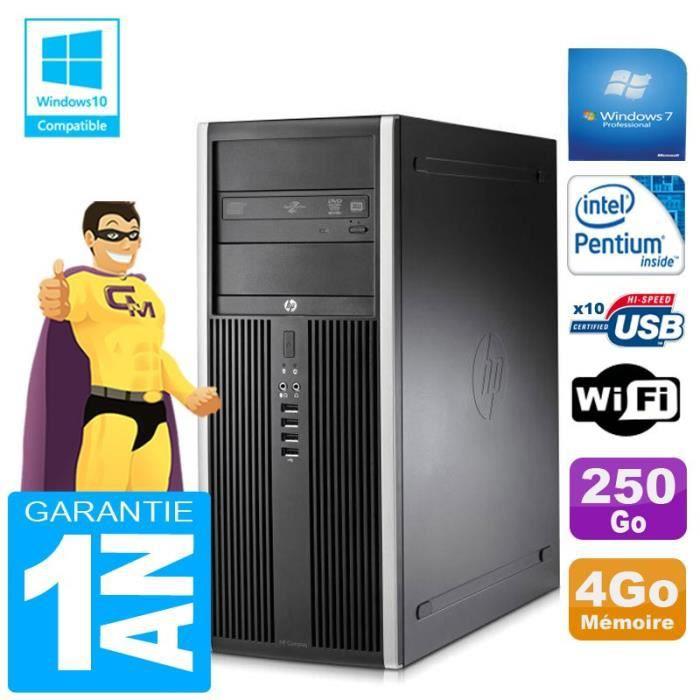 Pc Tour Hp Compaq 8200 Intel G630 Ram 4Go Disque 250 Go Graveur Dvd Wifi W7