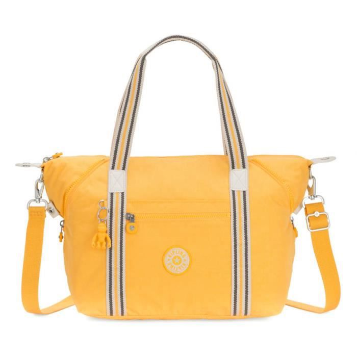 kipling Basic Eyes Large Open Art Tote Vivid Yellow [90679]
