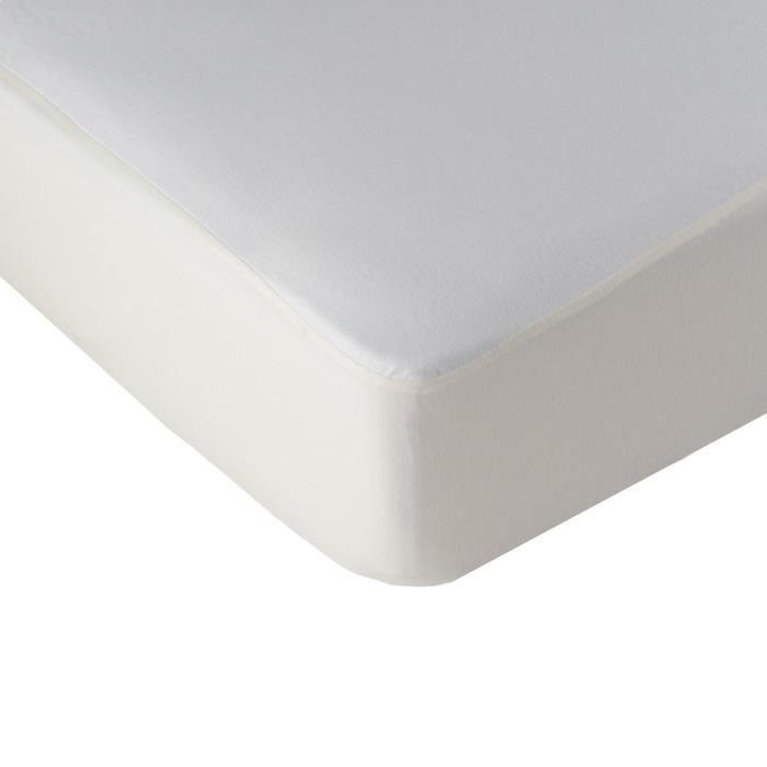 LINANDELLE - Alèse protège matelas molleton imperméable enduction respirante SILENCE - Blanc - 130x190 cm
