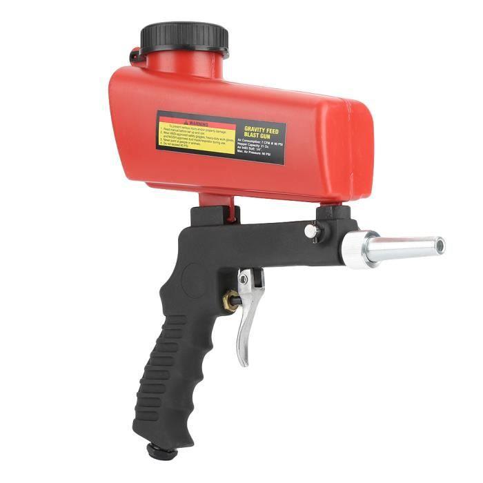 ❉Pistolet de sablage pneumatique avec pistolet de sablage pneumatique avec trémie pour éliminer l'échelle de peinture ant-XIL❉