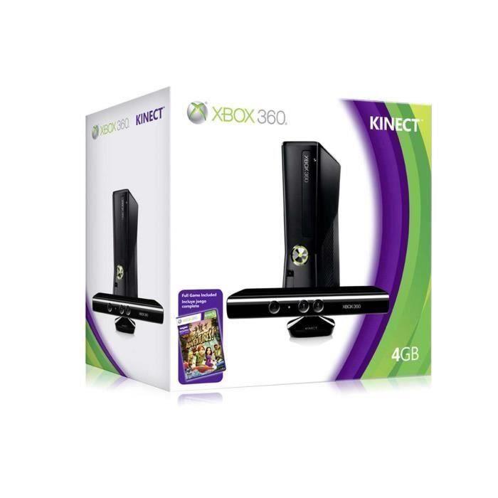 xbox 360 4 giga + kinect+kinect adventures