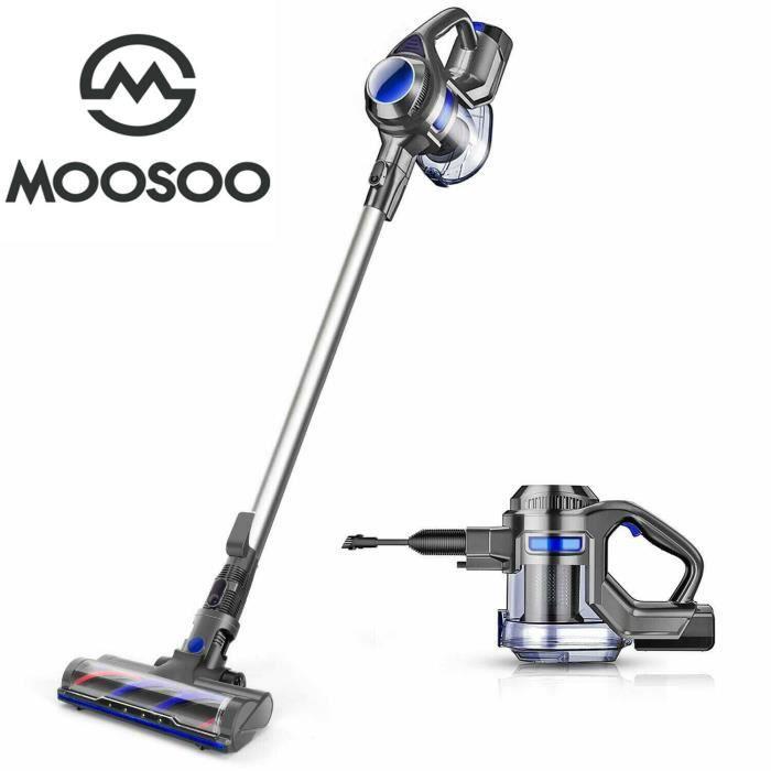 MOOSOO XL-618A Aspirateur Balai à Main Sans Fil 4 en 1 puissant aspirateur à main pour sol dur à la maison