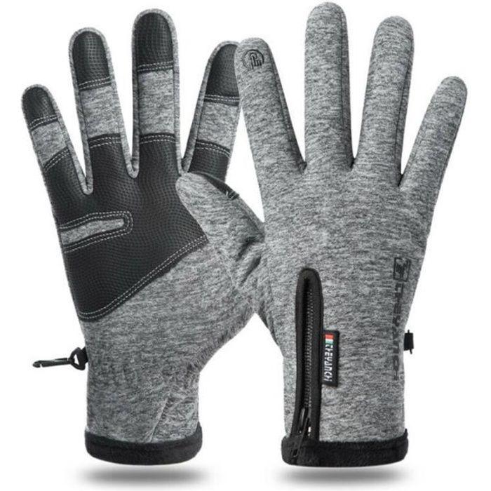 Gants chaudes d'hiver pour hommes à écran tactile Gants de cyclisme sports Gris GANTS DE VELO 0U061G01