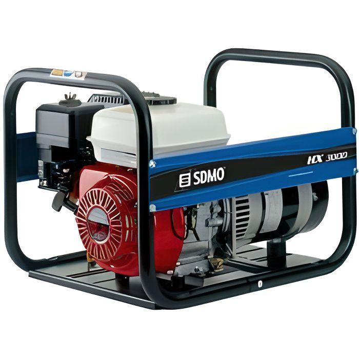 Sdmo - Groupe électrogène de chantier 3000W moteur Honda GX200 - HX 3000 C