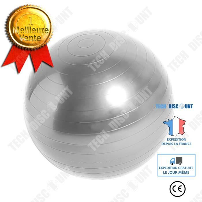 TD® 55cm Exercice Fitness Smooth Yoga Ball Ballon d'équilibre de danse fitness épaississement brillant