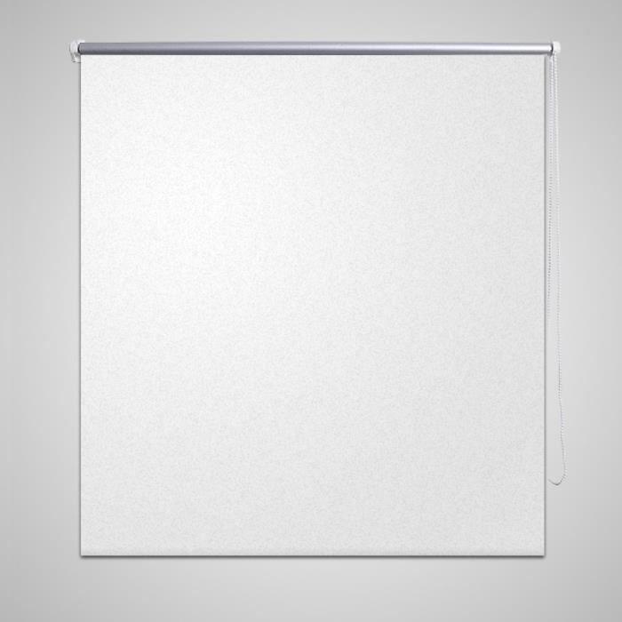 Store enrouleur occultant 120 x 175 cm blanc