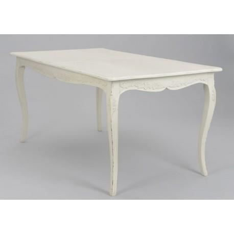 Table manger vieillie patin e blanc antique a achat - Table a manger blanc ...