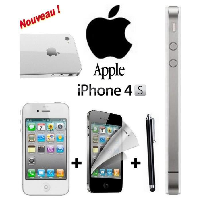 flash promo apple iphone 4s blanc 16 giga achat. Black Bedroom Furniture Sets. Home Design Ideas