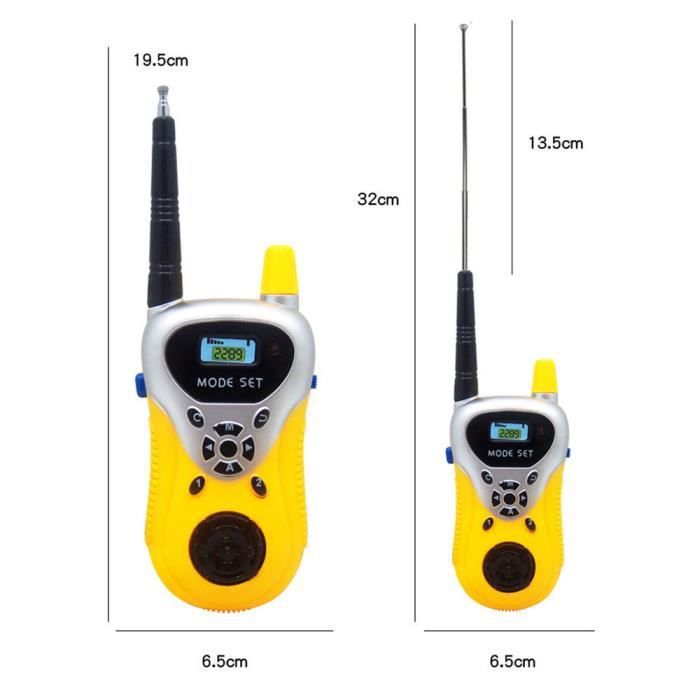 2Pcs Mini Talkie Walkie Enfants Radio Station Portable Cadeau De Communicate.FR