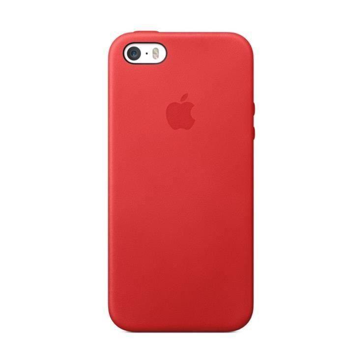 coque en cuir pour iphone 5 5s se rouge