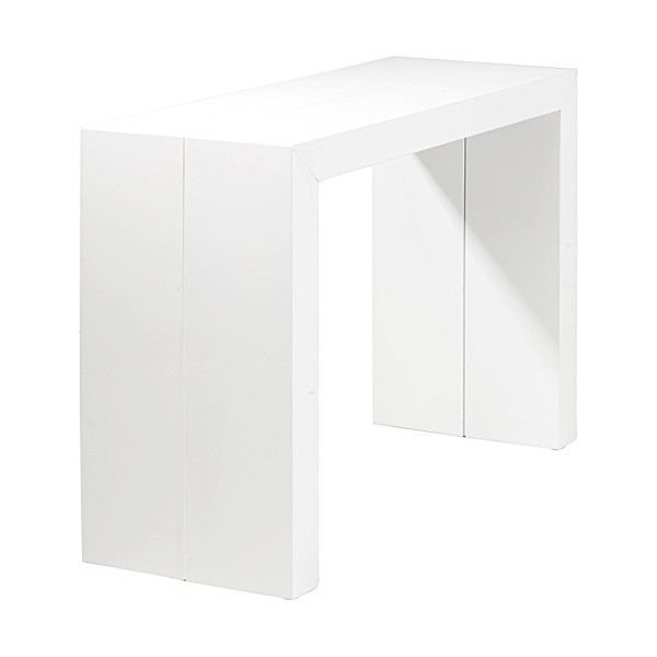 Table console extensible orianne blanc achat vente console extensible t - Console extensible cdiscount ...