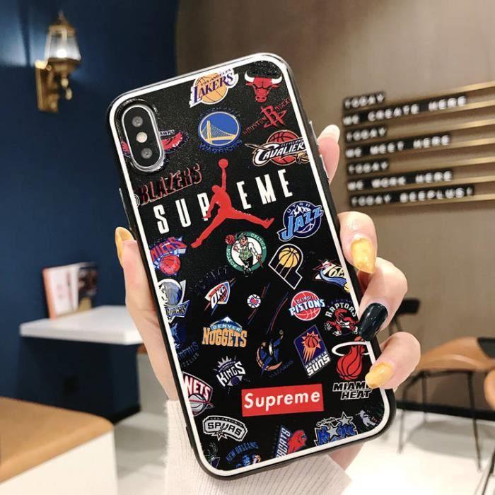 coque iphone 8 plus 7 plus supreme air jordan nba