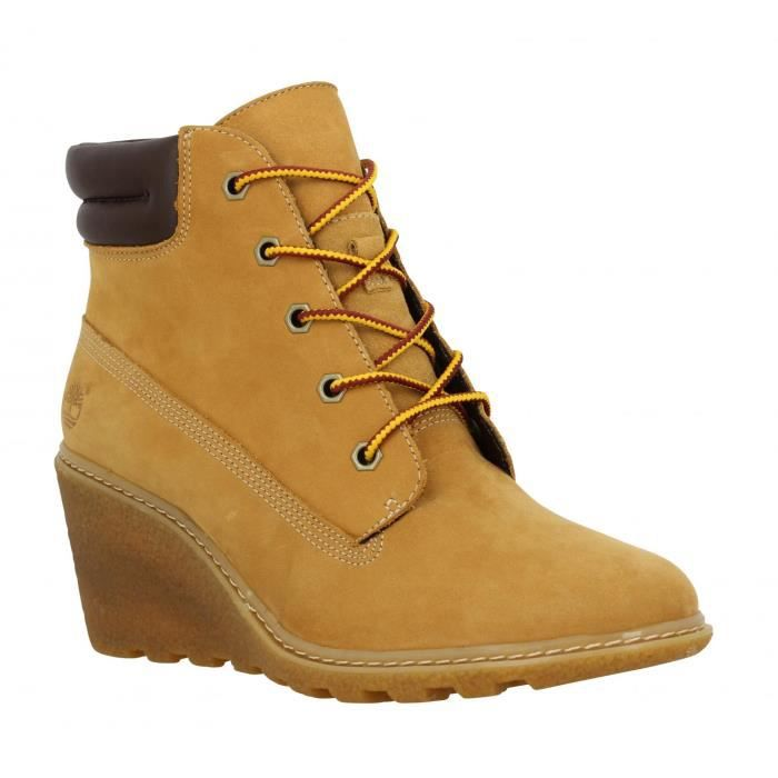 Compensees femme TIMBERLAND EK A Orange Ocre , Achat