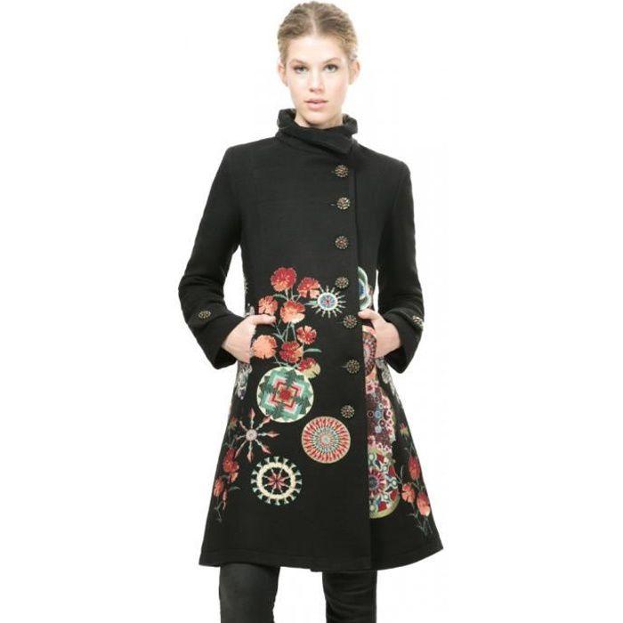 Manteau noir desigual - Achat / Vente pas