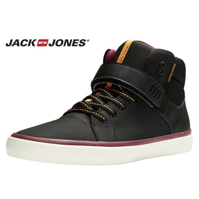 Baskets Jack and Jones montantes Bullet black grey 12110685