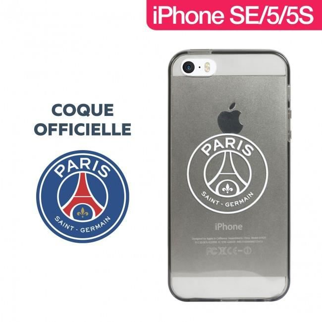 coque officielle psg tpu smoke pour iphone se 5s 5