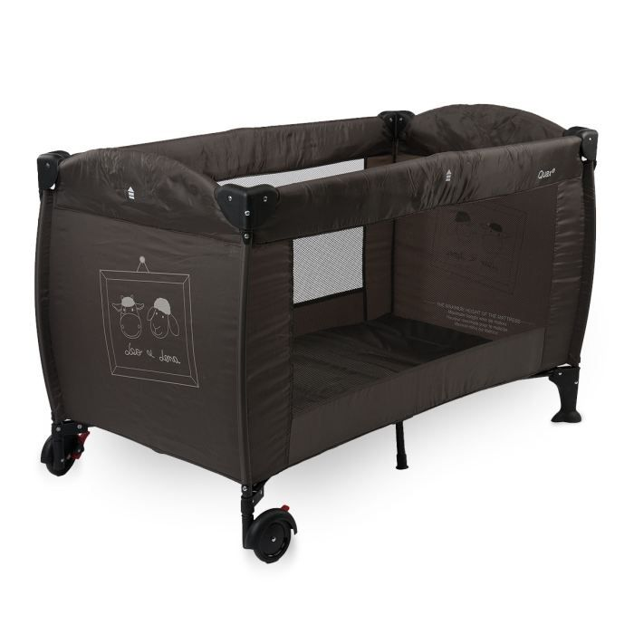 lit parapluie leo et lena marron achat vente lit pliant 5414375142923 cdiscount. Black Bedroom Furniture Sets. Home Design Ideas