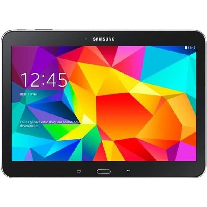 samsung galaxy tab 4 wifi 10 1 16 go noir prix. Black Bedroom Furniture Sets. Home Design Ideas