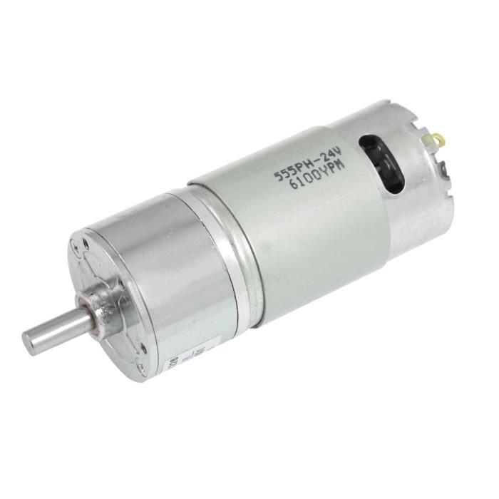 13.14kg.cm Torque 2 Broches Terminal 10 RPM 24V DC Motoréducteur Réducteur