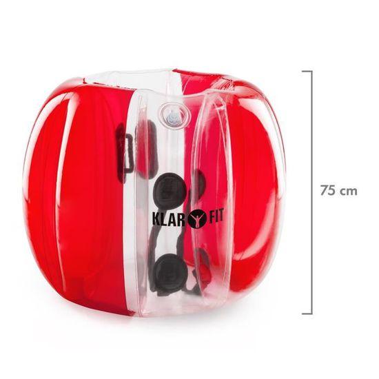 Klarfit Bubble Ball /• Football gonflable /• PVC de 0,5mm /• 120 x 150cm /• 8 chambres /à air en PVC r/ésistant aux d/échirures /• Pompe incluse /• Rouge