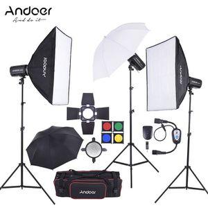 SOFTBOXS - PARAPLUIE Andoer Complet (300W * 3) Kit Flash Studio Photo a