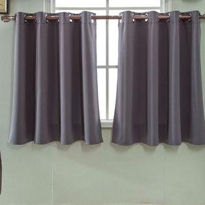 RIDEAU Rideaux occultants de couleur unie - gris #Si-25