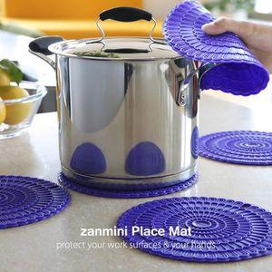 SET DE TABLE Tapis de table Hot Pad zanmini silicone 4 pcs - Vi
