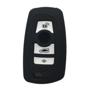 Clé Housse VB Noir//jaune silicone protection clés de voiture Cover Télécommande