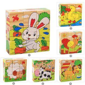 PUZZLE Puzzle 9Cubes Bois Les Animaux De la Ferme  - Modè